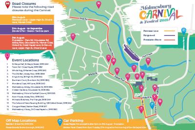 Malmesbury Carnival Map 2019
